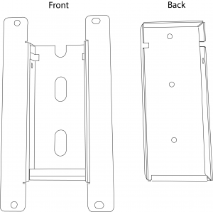 Mounting Bracket Front and Back